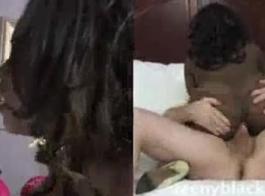 رجل أسود مغوي امرأة سمراء مثير وحصلت عليها لامتصاص ديك له للحفاظ عليه سعيدا